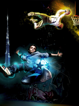 Emaar Dubai Mall - Basket Ball Freestyle Football Dubai - Brand Builders Dubai - Events and Advertising